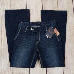 Seven 7 Darkwash Denim Trouser Flare Jeans NWT